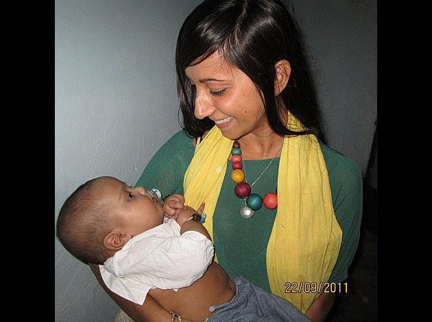 malika ayane con il bambino